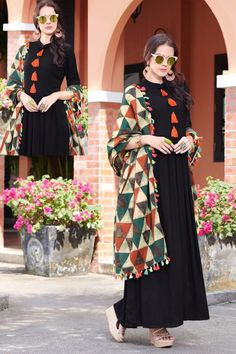 Order latest kurtis collection on wholesale rates on LKFABKART. Punjabi Dress, Pakistani Dresses, Indian Dresses, Stylish Dresses, Simple Dresses, Casual Dresses, Fashion Wear, Boho Fashion, Fashion Dresses