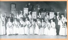 A Royal Neighbor drill team, formed during the early 1900's, from Dorrance, KS. Photo taken in May 1910.