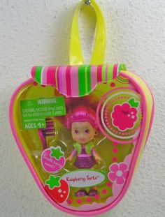Strawberry Shortcake Hasbro Mini Doll in Purse Raspberry Torte Version 2 by Hasbro. $25.00. This tiny friend is very sweet and berry sweet smelling! Brush your pretty little Raspberry Torte figures hair to make sure shes just as lovely as can be and then bring her along with you on all kinds of delicious adventures!