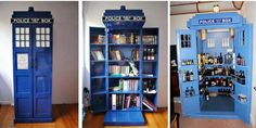 DIY Tardis got someone to build this as a DVD holder for my mom.