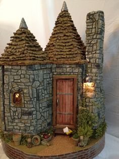Miniature Hagrids Hut back of house.
