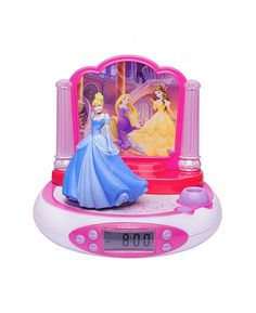 This cool Disney Princess Radio Alarm Clock will not only get your little one up in the morning, but will also help them drift off to sleep with its soothing nightlight function. The clock has handy added features such as snooze, an LCD display screen and built in FM radio and also features a fantastic 3D figure of Cinderella that plays 4 different sound effects when pressed. The clock also projects the time onto the ceiling and the fantastic Princess graphics are sure to delight any fan!