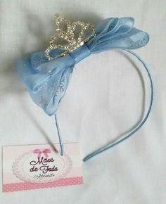 Laço de organza azul Frozen Mãos de Fada Artesanato www.facebook.com/mfmuzambinho