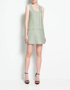 DRESS WITH ASYMMETRIC SLEEVE - Dresses - Woman - ZARA United Kingdom