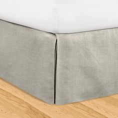 New!! Gray Classic 16 Inch Linen Bedskirt Adjustable Height Queen Free Shipping! in Home & Garden | eBay