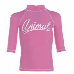 Animal Girls Pancake Carnation Pink UV Rash Shirt - Click for more information and to buy