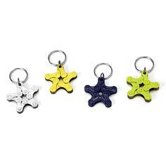 BIKE CHAIN STAR KEYCHAINS | recycled ornament, bike | UncommonGoods