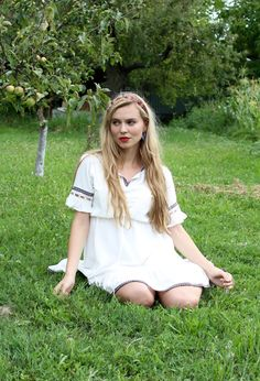 #zaful#dress#boho#style#nature#outfits#summer#long#hair#blond