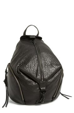 Free shipping and returns on Rebecca Minkoff 'Julian' Backpack at Nordstrom.com. A campus-classic backpack goes glam in glazed, lavishly textured leather for serious street-chic attitude. An enameled clip-lock detail and dangling zip tassels add signature touches.