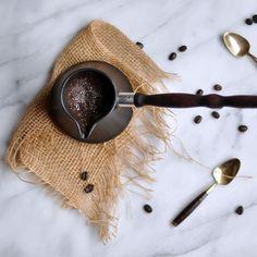 how to make Turkish coffee via Turntable Kitchen