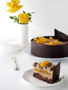 Cake with lemon crown - HQ Recipes Modern Cakes, Unique Cakes, Creative Cakes, Chocolates, Biscuits, Lemon Recipes, Frosting Recipes, Sweet Cakes, Delicious Desserts