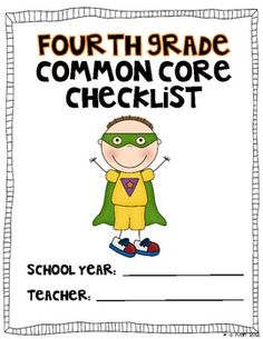Be a Common Core Superhero!  Use this color coded checklist to mark off when you have taught to the fourth grade Common Core Standards.