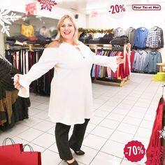 Tuniques, robes, blouses, pantalons, et bien plus encore pour une magnifique saison de soldes. #mode #grandetaille #femme #soldes #robes #blanche Blouse, Tunic Tops, Coat, Jackets, Women, Fashion, Plus Size Fashion, Trousers, Woman
