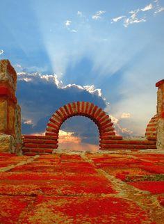 Ancient Church Ruins, Nesebar, Bulgaria.