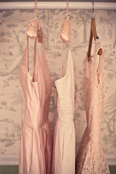 blush bridesmaids dresses are always the prettiest little things Looks Style, Style Me, Pelo Vintage, Vintage Pink, Vintage Girls, Rose Bonbon, Blush Bridesmaid Dresses, Bridesmaid Color, Lace Bridesmaids