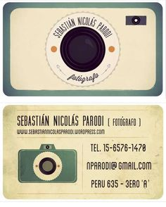 vintage camera inspired photography business card