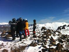 en lo mas alto de la cima del campo mapuche ,icalma