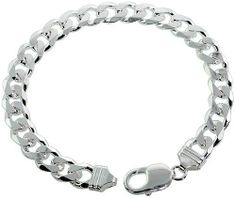 Sterling Silver Italian Curb Cuban Link Chain Necklace 9mm Heavy weight Beveled Edges Nickel Free, 20 inch Sabrina Silver. $325.70. Save 50% Off!