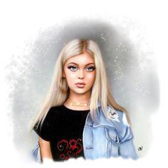 @loren by @kateartis22  digital  #ipad art #fashion #portraits #girl #art #loren #lorengray