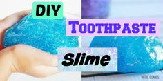 DIY toothpaste slime! | No borax, detergent, liquid starch, or eye drops