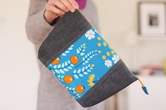 lotus pond open wide pouches + leather scraps