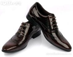 Brown & Black Leather Dress Shoes - $135.00 (iOffer)