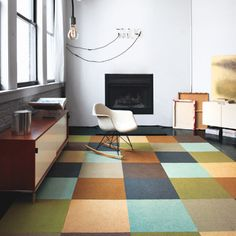 Combine 4 or more VCT of same color to create look of larger tiles!