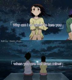 Anime : Nisekoi por que eu estou com medo de perder você,se você não é meu?