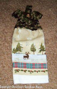 free crochet pattern dress towel topper