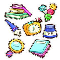 Books, pen, ink, school, learning