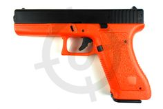 HA117Z HFC ORANGE SPRINGAIRSOFT BB GUN PISTOL The HA117Z Airsoft BB Gun pistol is styled like theGlock 17. It is a single firing spring loader that features a safety switch. It is made from ABS, a high quality plastic. A small packet of approximately 100 BB Pellets come with this…