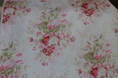 Yuwa Pink Floral Jacquard Fabric CR291324 by agardenofroses on Etsy