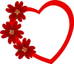 red heart png - Valentines Picture Frames
