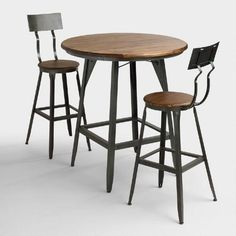For seating area near garage door entrance   WorldMarket.com - $560 for set - Hudson Pub Table