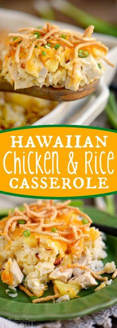 Get ready for a new favorite recipe - Hawaiian Chicken and Rice Casserole! An easy weeknight dinner that uses ingredients you probably already have in your pantry!: (Chicken Crockpot Potatoes)