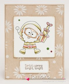 Sassy Santa, Merry Christmas enamel dots, Starburst stencil, Make a card #1