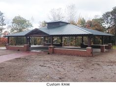 Custom Steel Shade Structure - From your first ideas to completed installation Pavillion Backyard, Backyard Gazebo, Outdoor Spaces, Outdoor Living, Outdoor Decor, Open Shed, Large Gazebo, Covered Patio Design, Farm Restaurant