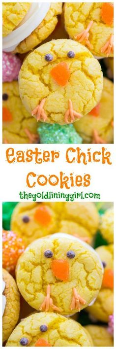 These Easter Chick Cookies are so festive and simple, and they make a great Easter project for kids. These Easter Chick Cookies are so festive and simple, and they make a great Easter project for kids. Easter Dinner, Easter Brunch, Easter Party, Easter Table, Hoppy Easter, Easter Chick, Easter Eggs, Easter Food, Easter Stuff