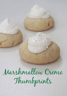 Marshmallow Creme Thumbprints
