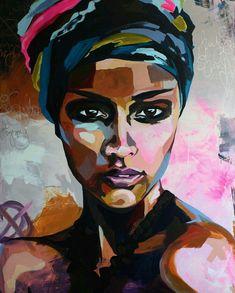 Seaty Artwork, African Woman, Graffiti, Canvas Art Print, Pop Art - My Dunsire Graffiti Canvas Art, Canvas Art Prints, Abstract Canvas, Wall Prints, Painting Abstract, Sunrise Painting, Blue Abstract, Woman Painting, Painting On Black Canvas