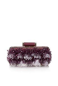 Clutch in raso e cristalli a cascata, Pinko  -cosmopolitan.it