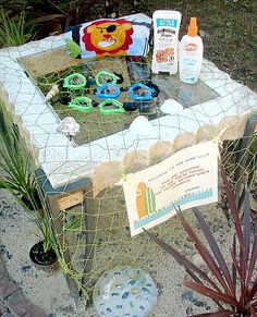 Welcome guest table, beach party