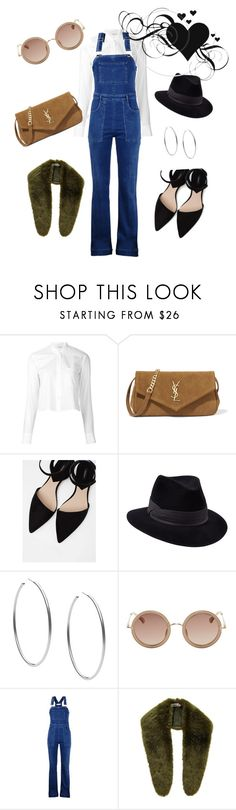 """🖤"" by gamosefashion on Polyvore featuring Helmut Lang, Yves Saint Laurent, MANGO, Penmayne of London, Michael Kors, The Row, STELLA McCARTNEY and nooki design"
