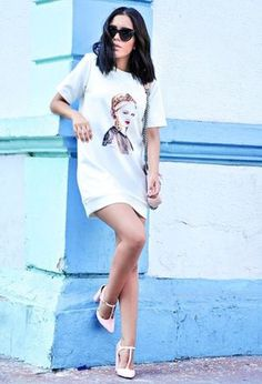 Look by @chicisimo with #summer #dress #dresses #forever21 #whitedresses #pinkheels.