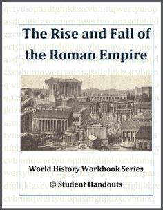 Rise and Fall of the Roman Empire Workbook - Free to print (PDF file). For high school World History students. High School World History, World History Teaching, Middle School History, Ancient Rome, Ancient History, World History Projects, History Classroom, Classroom Resources, Empire Romain