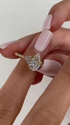 Pear Shaped Engagement Rings, Engagement Ring Shapes, Dream Engagement Rings, Yellow Diamond Engagement Ring, Yellow Diamond Rings, Pear Shaped Rings, Wedding And Engagement Rings, Moissanite Engagement Rings, 3 Diamond Engagement Rings