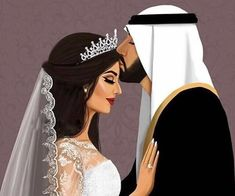 17 images about disegni🖌 on We Heart It Girly M, Cute Couple Cartoon, Cute Couple Art, Girly Drawings, Couple Drawings, Arab Wedding, Wedding Couples, Cute Muslim Couples, Cute Couples