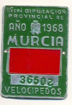 Diputación Provincial de Año 1968 Murcia Velocipedos