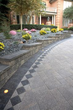 Chapman Builders Supplies has retaining walls, driveway curbs, and steps from Bestway stone and Unilock for Scarborough, Pickering, Ajax, Markham, Toronto