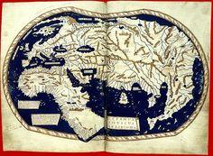 Planisfero 1490 (di Enrico Martello)  Rappresenta il mondo conosciuto alla vigilia della scoperta dell'America.  La carta, costruita ancora secondo i canoni tolemaici, descriveva fedelmente il viaggio di Bartolomeo Diaz che nel 1488 aveva superato il Capo di Buona  Speranza.